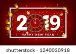 new year typographical creative ... | Shutterstock . vector #1240030918