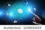 microchip  artificial...   Shutterstock . vector #1240032055