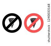 sauce ban  prohibition icon....