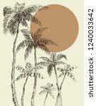 palm trees background | Shutterstock .eps vector #1240033642