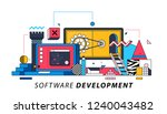 software development.... | Shutterstock .eps vector #1240043482