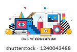 online education. illustration... | Shutterstock .eps vector #1240043488