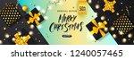 merry christmas sale poster...   Shutterstock .eps vector #1240057465