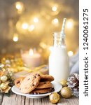 christmas background with... | Shutterstock . vector #1240061275
