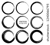 set of grunge circles  grunge... | Shutterstock .eps vector #1240066795