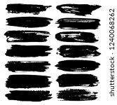 set of brush stroke   black ink ... | Shutterstock .eps vector #1240068262