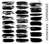 set of brush stroke   black ink ... | Shutterstock .eps vector #1240068265