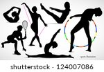 people athletes. women... | Shutterstock .eps vector #124007086