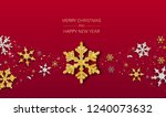 red merry christmas and happy... | Shutterstock .eps vector #1240073632