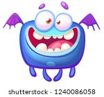 cute flying monster | Shutterstock .eps vector #1240086058