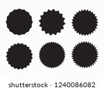 set of retro blank starburst ... | Shutterstock .eps vector #1240086082