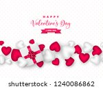 valentines day holiday design....   Shutterstock .eps vector #1240086862