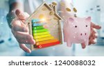 businessman on blurred... | Shutterstock . vector #1240088032