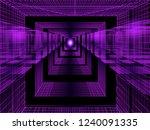 3d purple perspective...   Shutterstock .eps vector #1240091335