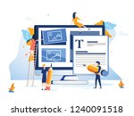 concept ux user experience... | Shutterstock . vector #1240091518