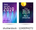 new year posters with abstract... | Shutterstock .eps vector #1240094272