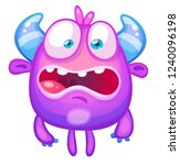 cute cartoon monster | Shutterstock .eps vector #1240096198
