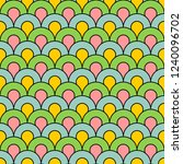 colorful scales pattern  art... | Shutterstock .eps vector #1240096702