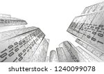 low poly smart city 3d wire... | Shutterstock .eps vector #1240099078