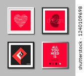 set of wall frames for picture... | Shutterstock .eps vector #1240109698