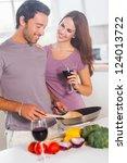 lovers preparing food and...