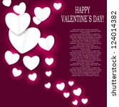 valentines day paper heart... | Shutterstock .eps vector #124014382