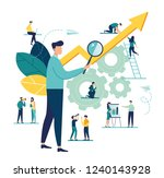 vector illustration a group of... | Shutterstock .eps vector #1240143928