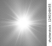 white glowing light explodes on ... | Shutterstock .eps vector #1240148455