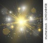 white glowing light explodes on ... | Shutterstock .eps vector #1240148458