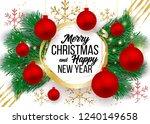christmas vector background... | Shutterstock .eps vector #1240149658