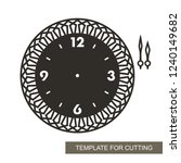 openwork dial with arrows and... | Shutterstock .eps vector #1240149682
