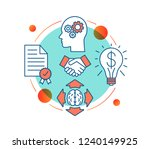 startup concept icon. business... | Shutterstock .eps vector #1240149925