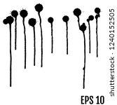 grunge ink blots brush texture... | Shutterstock .eps vector #1240152505
