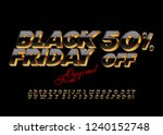bright 3d font. vector luxury... | Shutterstock .eps vector #1240152748