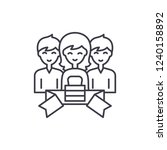 membership line icon concept.... | Shutterstock .eps vector #1240158892
