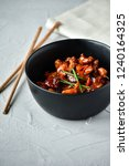 spicy chicken in sweet and sour ...   Shutterstock . vector #1240164325