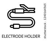 electrode holder icon. outline...   Shutterstock .eps vector #1240164565