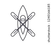 kayaking boat line icon concept.... | Shutterstock .eps vector #1240166185