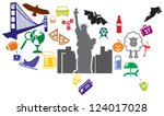 usa icons | Shutterstock .eps vector #124017028