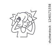 headache line icon concept.... | Shutterstock .eps vector #1240171558