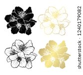 decorative jasmine flowers ... | Shutterstock .eps vector #1240179082