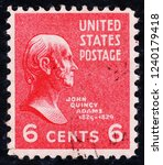 usa postage stamp  circa 1938 ... | Shutterstock . vector #1240179418