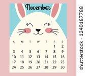 calendar 2019. cute funny... | Shutterstock .eps vector #1240187788