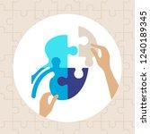 human kidney puzzle pieces... | Shutterstock .eps vector #1240189345
