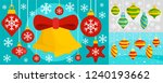 decorate christmas tree toys... | Shutterstock .eps vector #1240193662