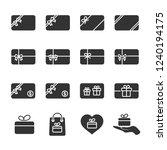 vector illustration set gift...   Shutterstock .eps vector #1240194175