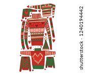 set of doodle christmas jampers....   Shutterstock .eps vector #1240194442