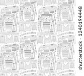 set of doodle christmas jampers ... | Shutterstock .eps vector #1240194448