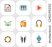 audio icons flat style set with ...   Shutterstock .eps vector #1240195252