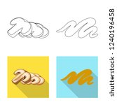 vector illustration of burger...   Shutterstock .eps vector #1240196458
